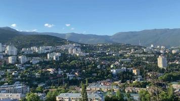 Panorama of the city landscape of Yalta, Crimea video