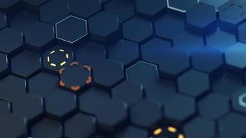 Closeup shot of glowing honeycomb surface video