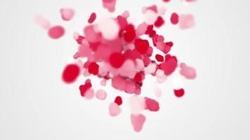 Camera flying through heart shapes last 10s loop video