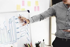 Los profesionales del marketing ofrecen a los empleados una solución a los problemas financieros con el fin de aplicar sus conocimientos a los problemas de marketing de la empresa. foto