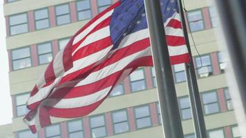 American flag flying in New York City video