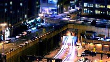 Time lapse of traffic passing through the streets of New York at night video