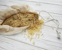 Uncooked basmati rice photo