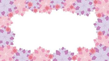 Flowers background concept video