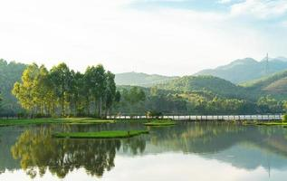 paisaje natural de montañas y bosques en vietnam foto