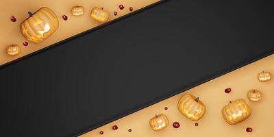 halloween background Pumpkin and Candles photo