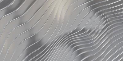 Parallel line wave background waves of plastic swaying rubber sheet 3D illustration photo