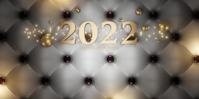 feliz año nuevo 2022 navidad y año nuevo fondo foto