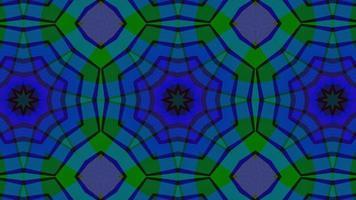 abstrait symétrique multicolore de formes géométriques video