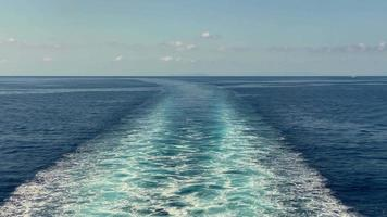 Blue Ocean Waves From A Big Boat video