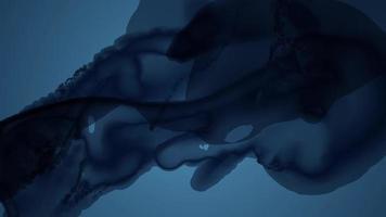 Beautiful Dark fluid on blue background video free