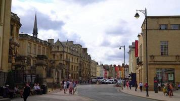 Oxford City scape in England, UK video