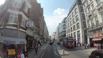Timelapse London City - view from bus video