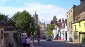 Cambridge City Scape in England, UK video