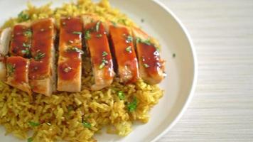 grilled sweet chicken with curry rice video
