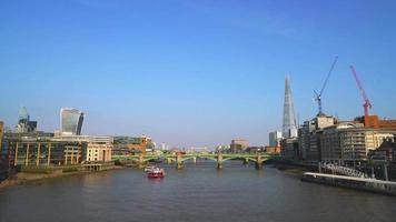 River Thames with London City in England video