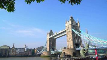 Tower Bridge in London City, England, UK video