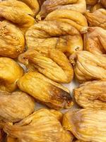 close up ready to eat dried figs photo