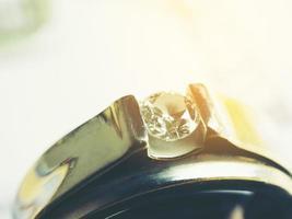Wedding diamond ring, Close up photo