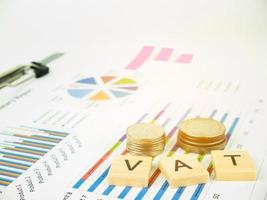VAT concept with business graph analyst and sale report photo