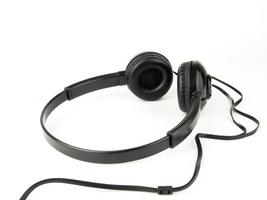 Black modern Headset Isolated on white background photo