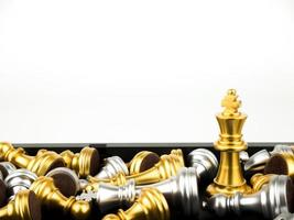 Game of chess figures - strategy, Leader and teamwork concept photo