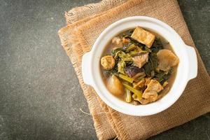 Chinese vegetable stew  with tofu or mixture of vegetables soup photo