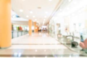 Tienda de desenfoque abstracto y tienda minorista en el centro comercial foto
