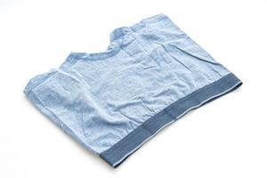 blue men underwear on white background photo