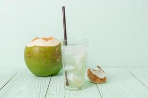 coconut water or coconut juice photo