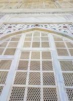 Taj Mahal Agra India Mogul marble mausoleum detailed architecture texture. photo