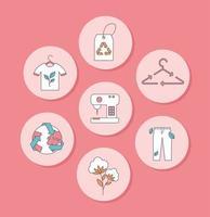 slow fashion ecological set vector