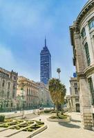 Torre Latinoamericana skyscraper high building in downtown Mexico City. photo