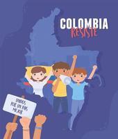 colombia resiste manifestación vector