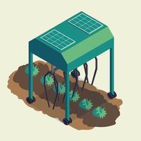 isometric smart farm vector illustration