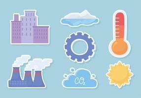 cambiar el clima pegatinas vector