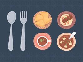 menu food cutlery vector