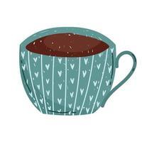 delicate coffee or tea cup vector