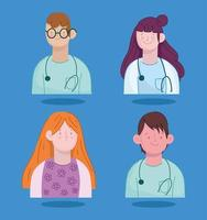 physicians staff patient vector