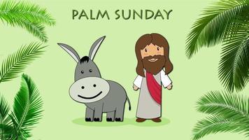 Cartoon Greeting - Palm Sunday video
