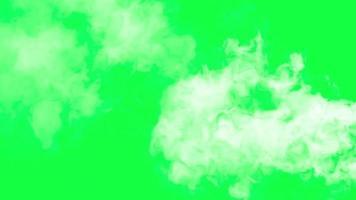 smoke effect green screen video