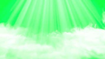 smoke with light rays animation green screen video
