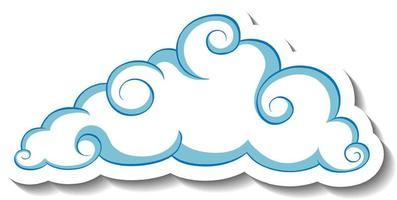 Isolated simple cloud sticker template vector