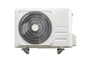 Condensing unit of air conditioning systems isolated on white with clipping path. photo