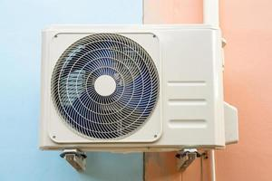 Condensing unit of air conditioning systems. photo