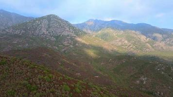mountains landscape in corsica video
