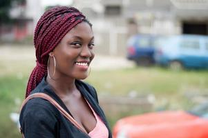 portrait of pretty smiling woman. photo