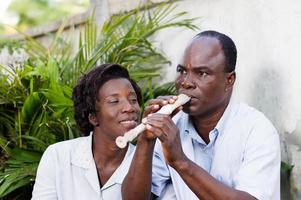 adult couple entertaining themseve in  campaign photo