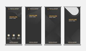 dark color vertical banner collection. minimalistic background design. vector