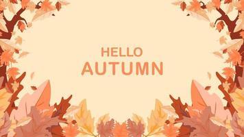 autumn leaves frame cover. seasonal thanksgiving background. vector illustration